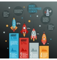 Rockets infographic set vector