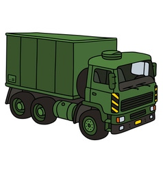 Green military truck vector