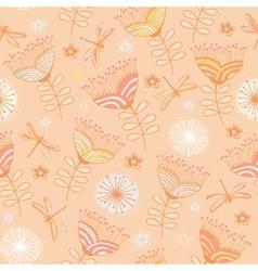 seamless vintage flower pattern background vector image