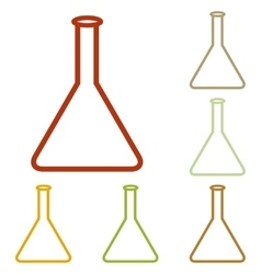 Conical flask sign vector