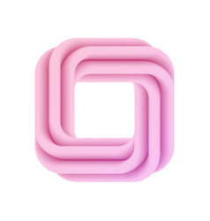Abstract pink 3d frame vector
