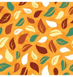 Autumn seamless pattern with leafs vector image vector image