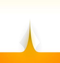 Bent Paper Template vector image