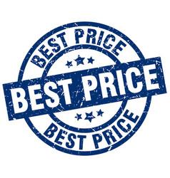 Best price blue round grunge stamp vector
