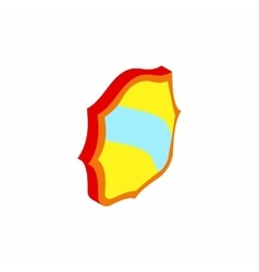 Blue band shield icon isometric 3d style vector