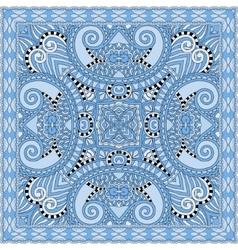 Blue colour floral paisley bandanna square vector