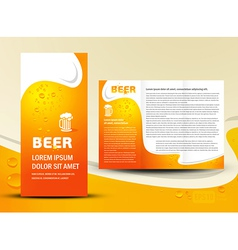 brochure folder card beer bar element design vector image