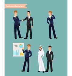 Cartoon businessman poses vector
