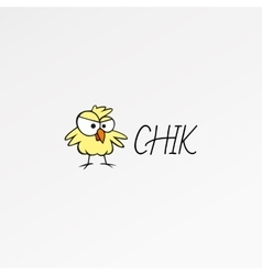 Cartoon logo icon template chik design nestling vector
