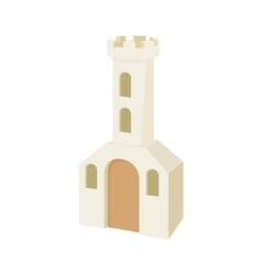 Church building icon cartoon style vector image vector image