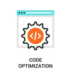 code optimization icon vector image