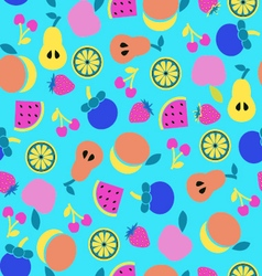 colorful Fruit background in Flat style vector image vector image