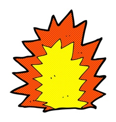 comic cartoon explosion vector image