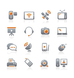 Communication Icons Graphite Series vector image