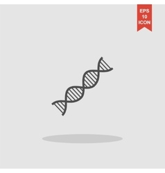 DNA icon vector image