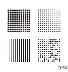 Dots square icon vector
