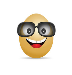 Egg with glasses vector