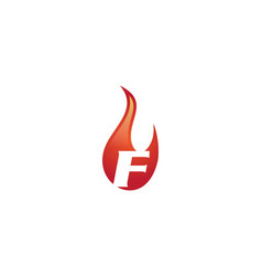 f letter flame logo vector image vector image