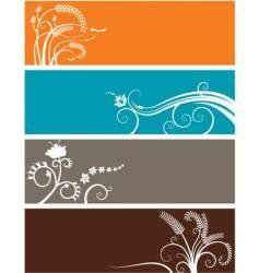 floral web headers vector image vector image
