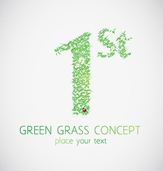 grass first vector image