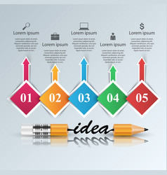Help 3d business infographics pencil icon vector