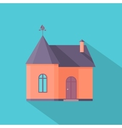 House in Flat Design vector image vector image
