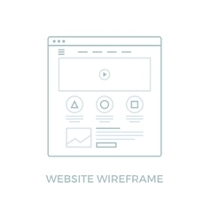 Line Website Wireframe vector image