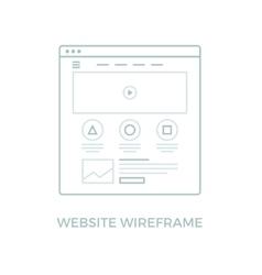 Line Website Wireframe vector image vector image