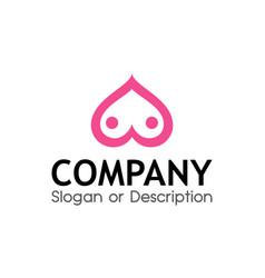 logo for sex shop vector image