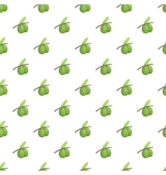 Olive branch pattern cartoon style vector