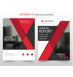 red materail design annual report leaflet vector image