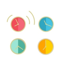 Round wall clock set vector
