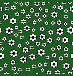 seamless pattern with soccer balls hexagon vector image vector image