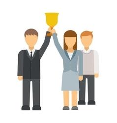 Startup winners vector image vector image