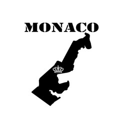 Symbol of monaco and map vector