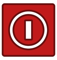Turn off switch toolbar icon vector