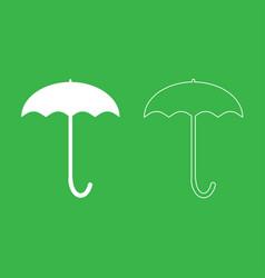 umbrella icon white color vector image vector image