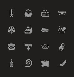 Washing - flat icons vector