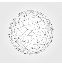 Wireframe mesh ball vector