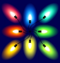 set of Christmas lights vector image