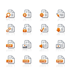 Documents icons 1 graphite series vector
