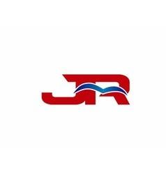 JR Logo Graphic Branding Letter Element vector image