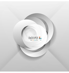 Abstract paper circles design vector