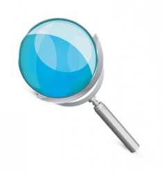 Magnify glass vector