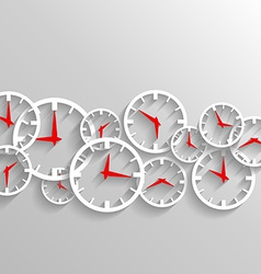 Time for business watch elements background vector image