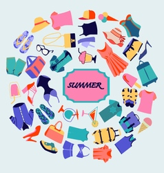 Summer shopping theme fashion boutique vector