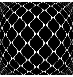 Design warped grid geometric pattern vector
