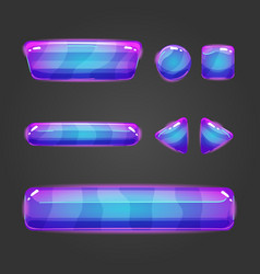 Set of button for game design - 8 vector