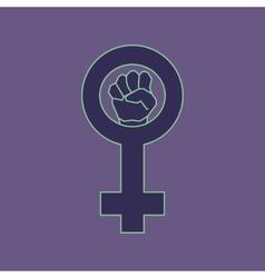 Violet feminism symbol vector