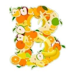 B made of fruits vector image
